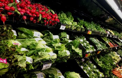 Fresh produce at the grocery store in Ohio.
