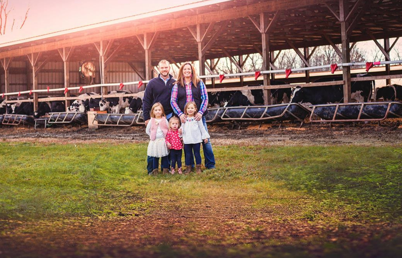 The Anderson family on their local Ohio farm.