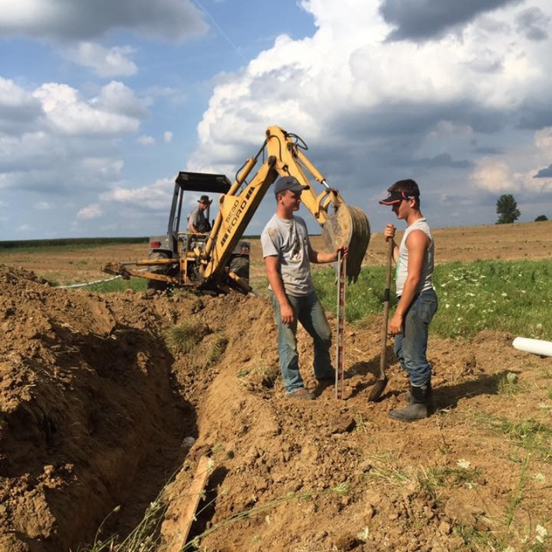 Adam Vonderhaar working in the field on his local, Ohio farm.